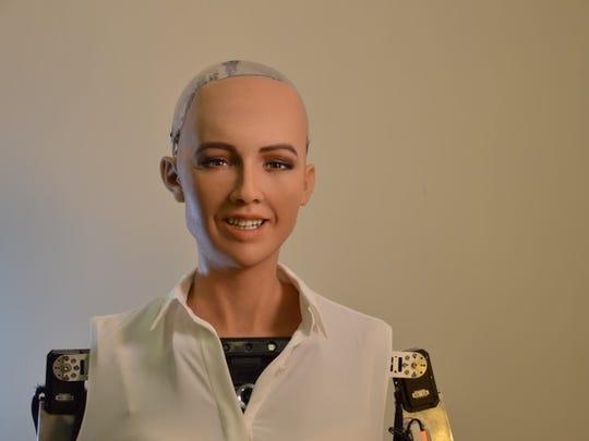 Sophia, a lifelike robot from Hanson Robotics