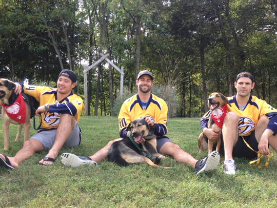 When the Predators visited the Nashville Humane Association