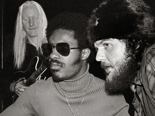 Johnny Winter, Stevie Wonder and Dr. John were the
