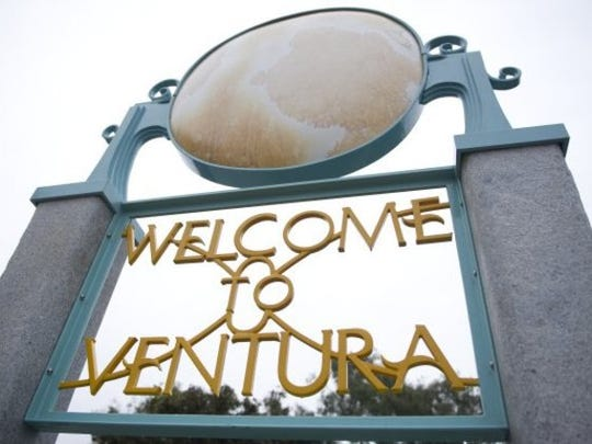A sign welcomes visitors to Ventura.