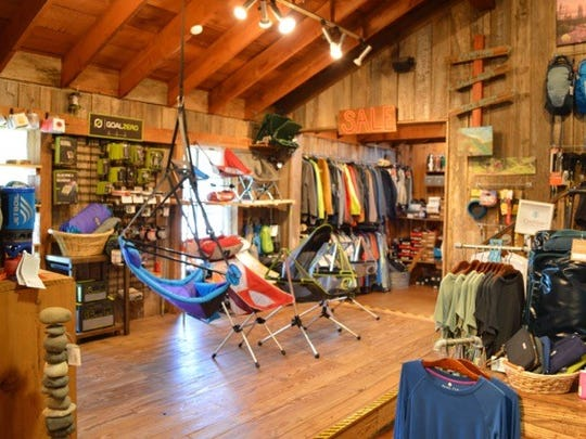 Inside Pack and Paddle in Lafayette.