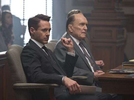 """Robert Downey Jr. and Robert Duvall in a scene from """"The Judge."""""""