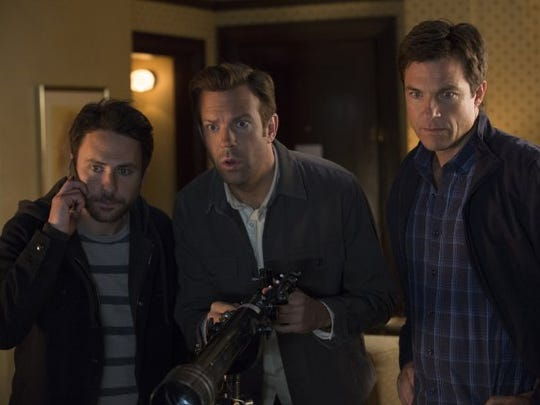 """Jason Bateman, Charlie Day and Jason Sudeikis in a scene from """"Horrible Bosses 2."""""""