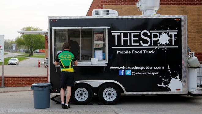 The Spot mobile food truck in front of Confluence Brewing.