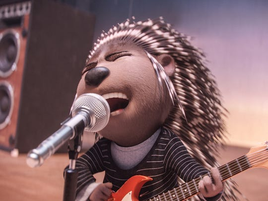 Scarlett Johansson rocks out as the voice of Ash, a punk-rock porcupine in 'Sing.'