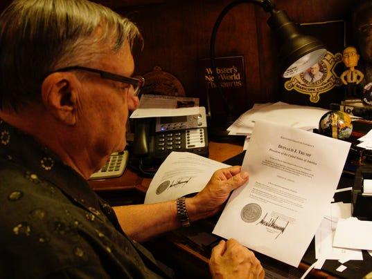 Joe Arpaio reads official pardon letter