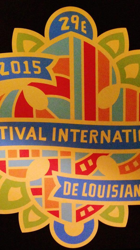 The 2015 Festival International de Louisiane pin design.