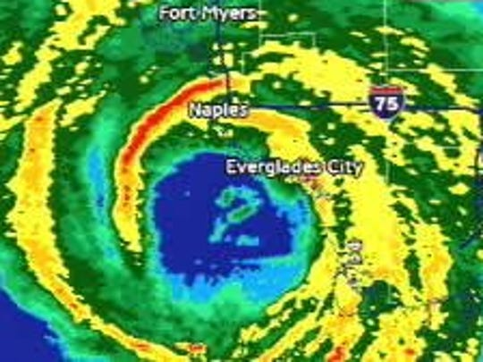 NBC2's radar picked up an odd formation in the eye of Hurricane Wilma -- the number 2. Critics questioned its authenticity, but the two did appear live on radar.