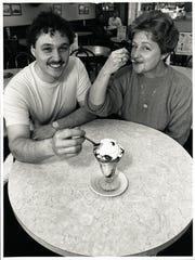 This 1989 photo of Yum Yum Tree co-founders Bert and