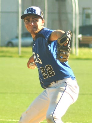 Wood-Ridge pitcher Anthony Trano delivering in the game at Becton on May 3.
