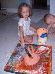 "Marla Olmstead is shown painting in the film ""My Kid"
