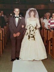 Jeanne Bader at her wedding in 1982.