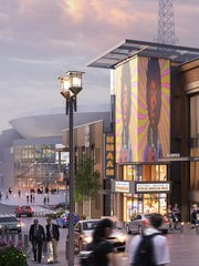 Artistic rendering of the proposed National Museum of African-American Music looking south on Fifth Avenue in downtown Nashville