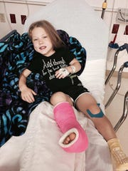 Jayci Simon, 12, has endured six surgeries in her life,