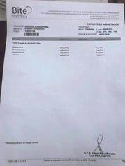 Documentos de prueba negativa presentados por Ninel Conde.