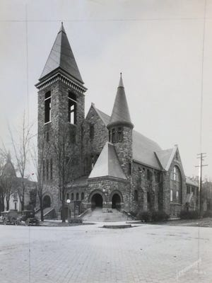 First Baptist Church, Capitol Avenue and Ionia Street, the church was built between 1892 and 1894, undated photo.