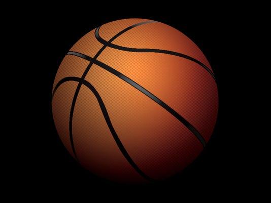 Vector Realistic Basketball Illustration Sitting in Shadows