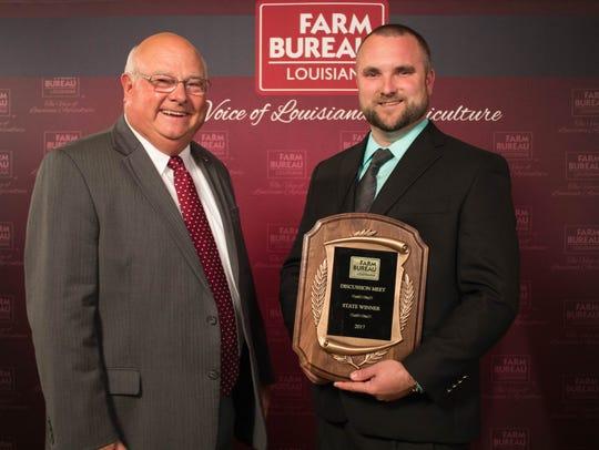 Louisiana Farm Bureau President Ronnie Anderson (L)