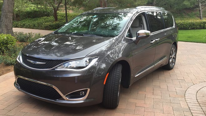 2017 Chrysler Pacifica minivan is photographed in Newport Beach, Calif. in March 2016.