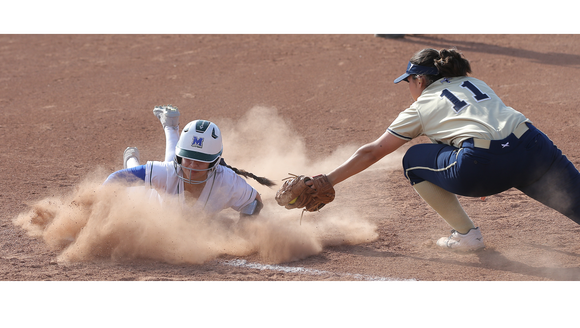 Montwood's Abby Hernandez slides safely into third