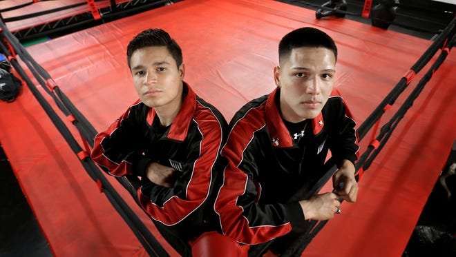 State Golden Gloves champions Victor Aranda, left, and Jorge Tovar will head to the national Golden Gloves tournament being held May 1-6 in Lafayette, Louisiana.