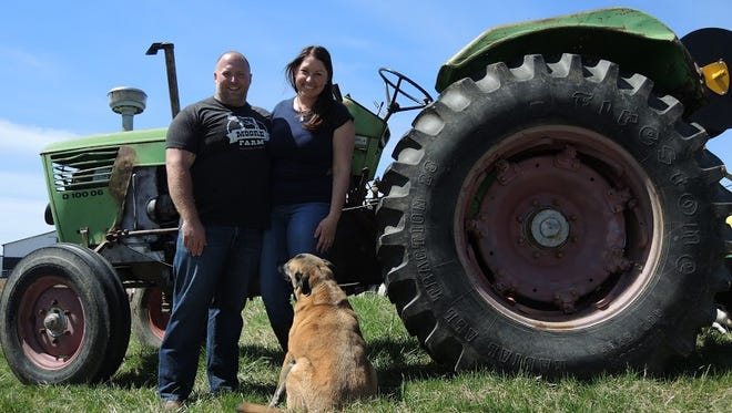 Moore's farm in Spencer county that he tends with girlfriend Lindsay Franzen provides half of Volare's produce at the height of the season.
