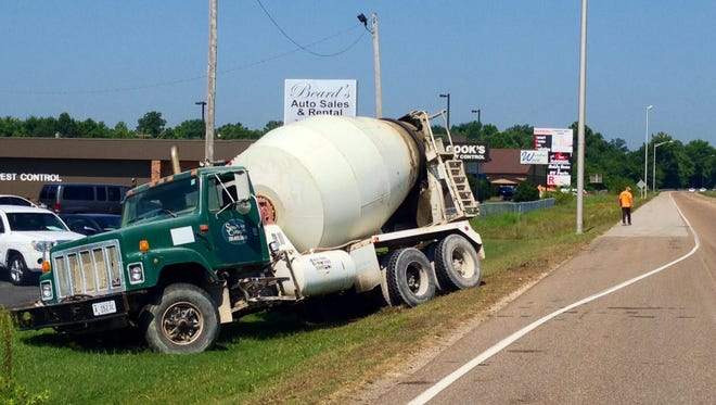 A truck ran off the road near State Street and the U.S. 45 Bypass this morning. No injuries were reported in the accident.