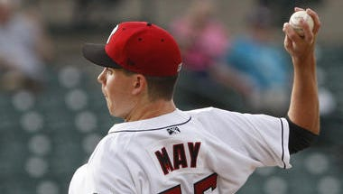 Trevor May's big-league debut will come 45 days shy of his 25th birthday.