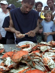 The crab picking contest at the Blue Crab Festival in Panacea, which gets underway Saturday in Woolley Park.
