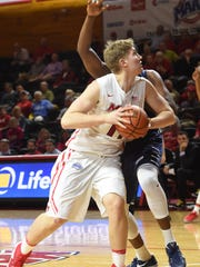 Marist's Tobias Sjoberg goes for a layup during Thursday's game against Saint Peter's.