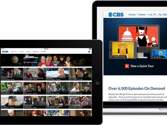 CBS Interactive shown on tablet, computer and smartphone.