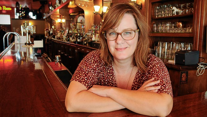 """Kelly Nathe, Minneapolis, is the co-director of the film """"Minnesota 13: From Grain to Glass."""" She is shown in a photo taken Monday, Sept. 12, in St. Cloud."""