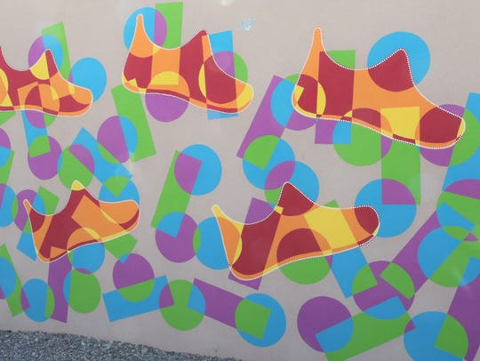 A mural by Jaime Fairchild adorns the wall of the Brown