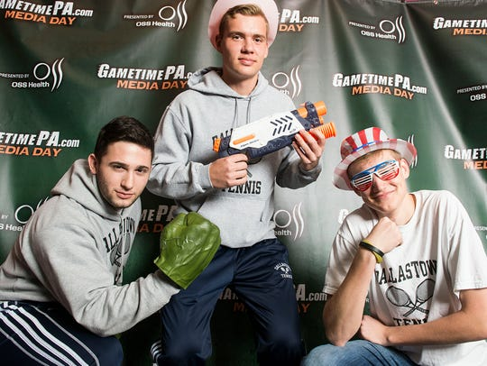 Dallastown tennis players strike a pose at the GameTimePa
