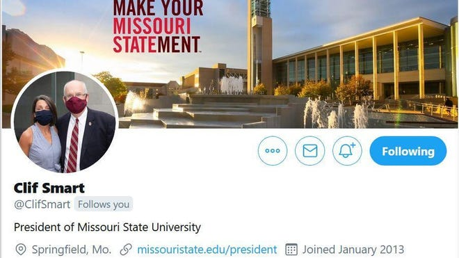 Clif Smart, president of Missouri State University, joined Twitter seven years ago. He has more than 20,000 followers and regularly interacts on social media.