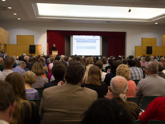 A crowd filled the room last May at the former Burnham Brook Community Center as officials unveiled the BC Vision plan.