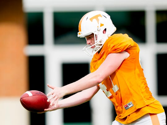 Joe Doyle is one of two freshmen vying for the punter position.