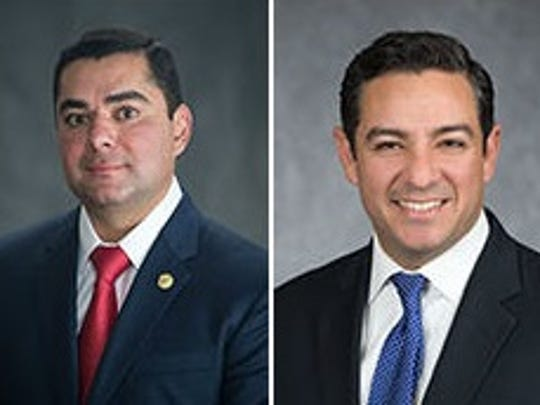 State Reps. J.M. Lozano and Cesar Blanco