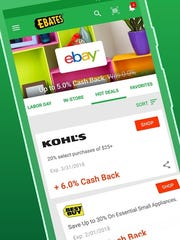 Those who prefer online shopping can get cash back on purchases with apps like Ebates. The percentage varies, but usually ranges from 2 to 6 percent, and as high as 40 percent around the holidays.