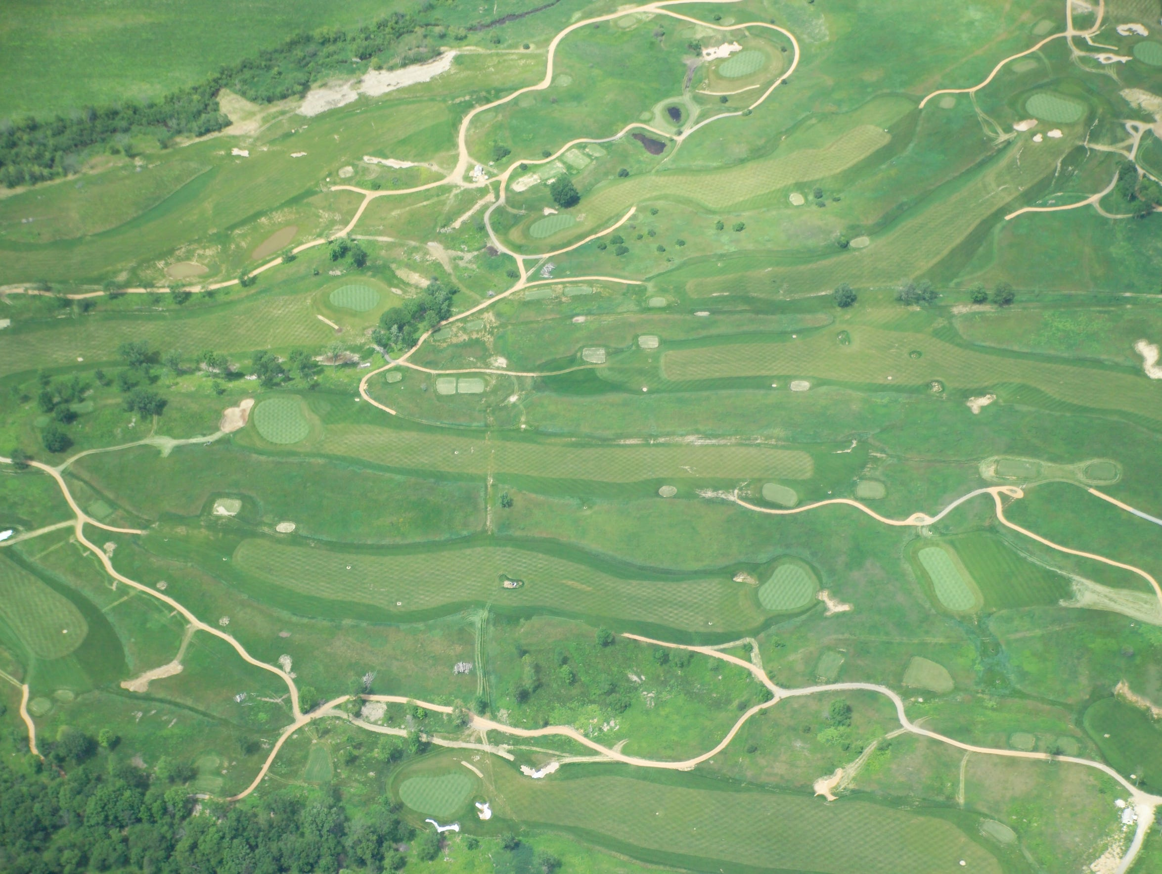 This 2006 aerial photo shows Erin Hills before it opened