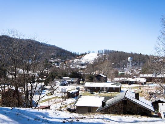 A view of Barnardsville.