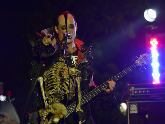 Jerry Only of the Misfits at the Rock and Roll Hall of Fame and Museum in 2014.