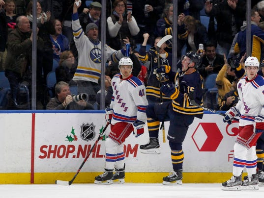 USP NHL: NEW YORK RANGERS AT BUFFALO SABRES S HKN USA NY