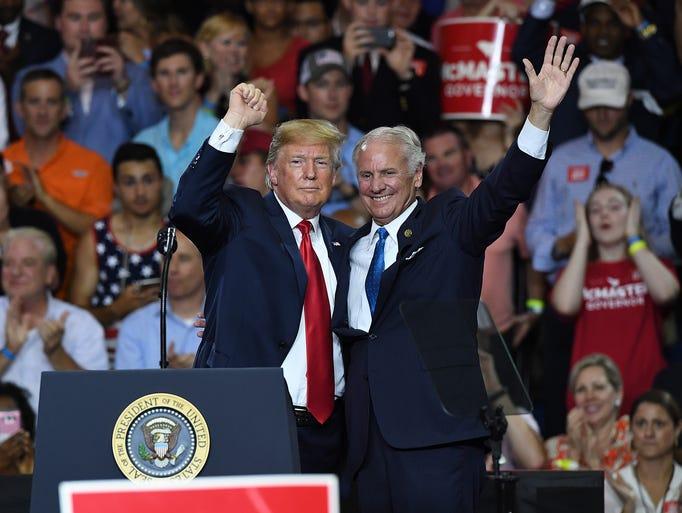 President Donald Trump and South Carolina governor