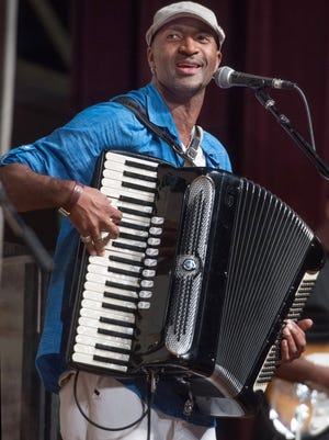 "Curley Taylor and Zydeco Trouble entertain at ""Everybody's Birthday Party"" Saturday in Grand Coteau."