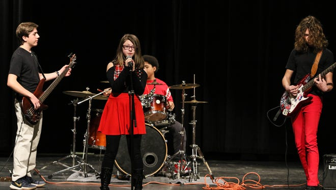 Finalists Zap & The Moles perform for Morristown Onstage at Morristown High School on January 06, 2018.   Alexandra Pais/ The Daily Record