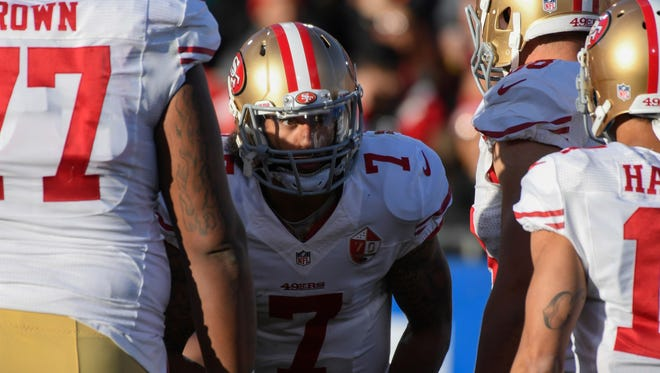 Colin Kaepernick led the 49ers to back-to-back NFC championship games in 2012 and 2013 but is unemployed as training camp opens in 2017.
