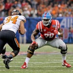 Ole Miss Rebels offensive lineman Laremy Tunsil (78) is projected as the No. 1 draft pick.