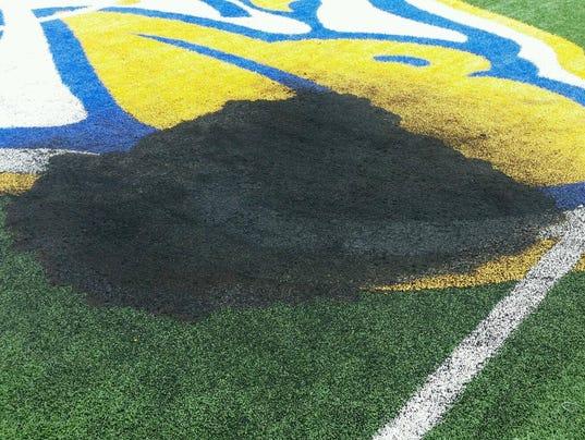 Burn mark on IHS field
