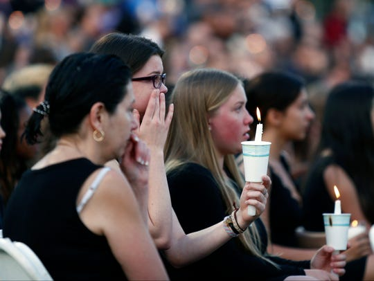 Nyack High School students gather for candlelight vigil